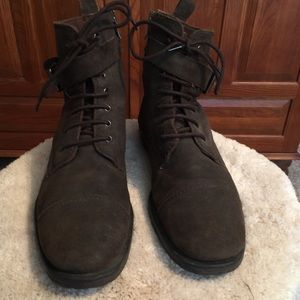 Banana Republic Brown Leather Boots Sz 11.5